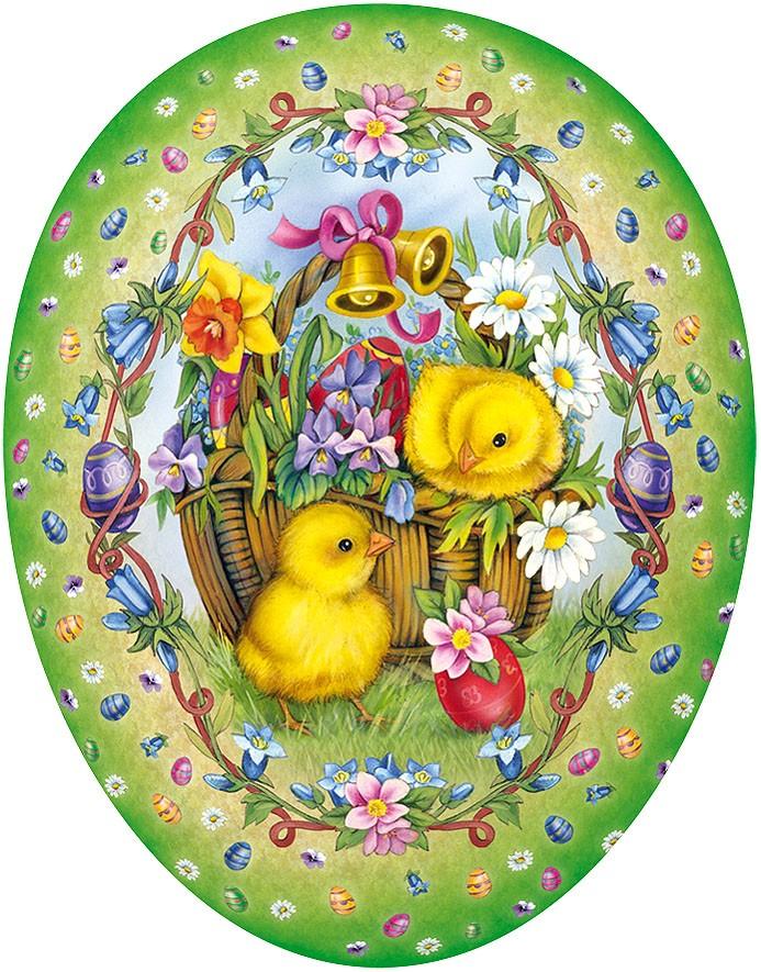 Nestler Osterei Frühlingskorb mit Küken