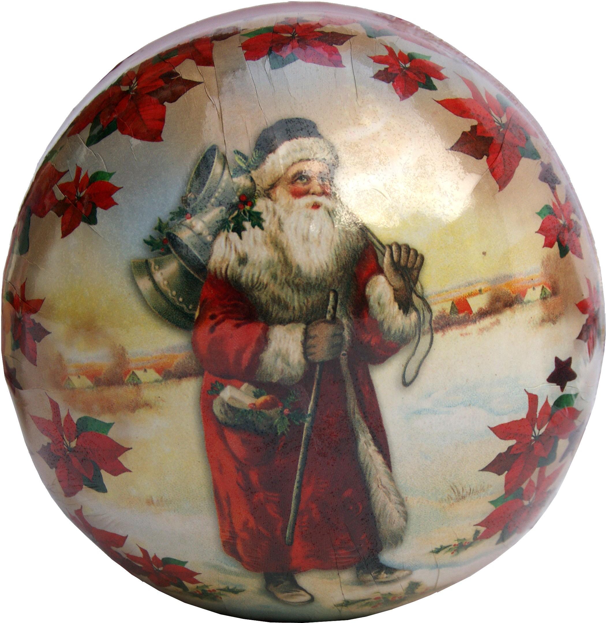 Weihnachtskugeln Nikolaus - Nikolaus mit Glocken, 10 cm