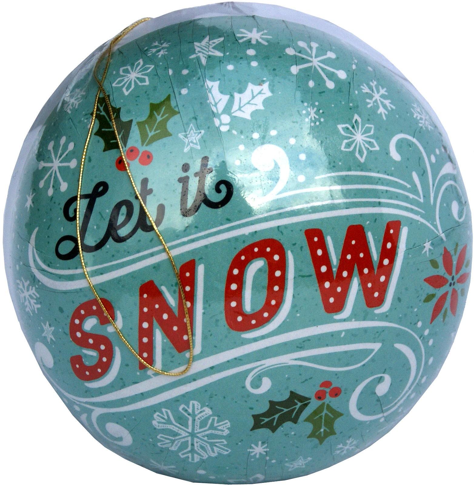 Weihnachtskugeln Let it snow, 10 cm