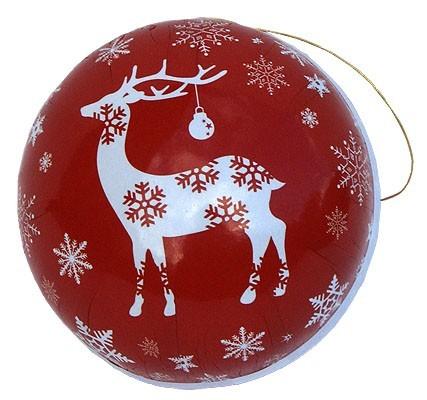 Weihnachtskugel Rentier, 8 cm