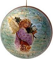 Weihnachtskugeln Engel - Engel mit Baum, 8 cm