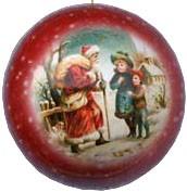 Weihnachtskugeln Vintage - rot, 8 cm