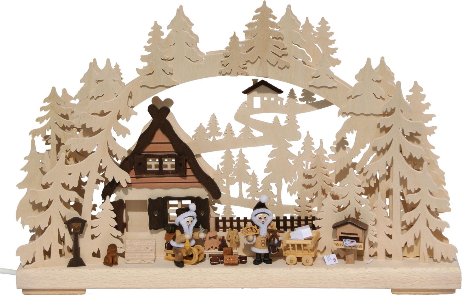 RATAGS Holzdesign 3D-Schwibbogen Weihnachtswünsche, klein