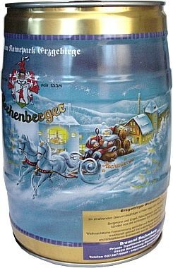 Rechenberger Pilsner im Weihnachtsfässchen