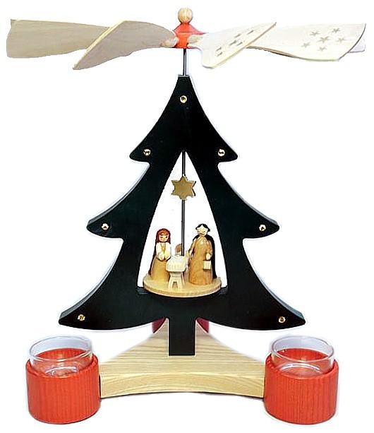 Richard Glässer Baumpyramide Christi Geburt für Teelichte