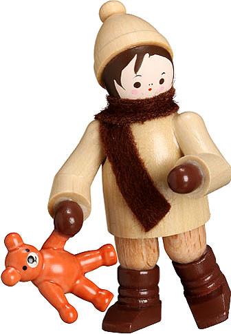 Romy Thiel Winterkind mit Teddy, natur