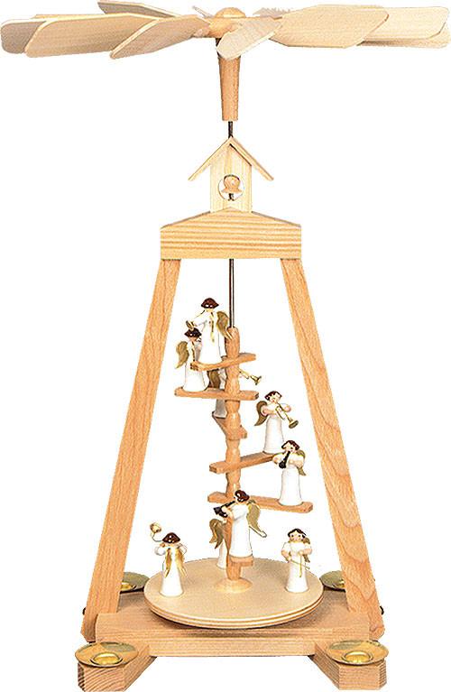 Seiffener Handwerksschau Treppenpyramide Engel