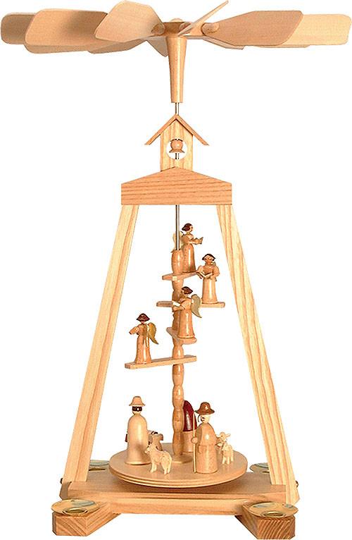 Seiffener Handwerksschau Treppenpyramide Geburt