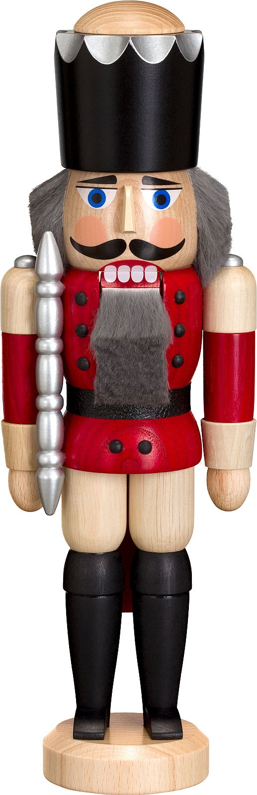 nutcracker king, ash tree glazed, red, 11.42 inches