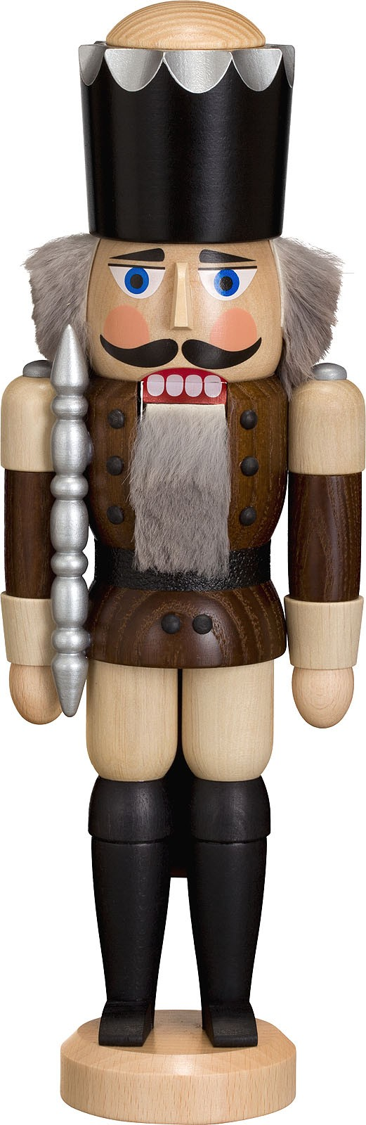 nutcracker king, ash tree glazed, brown, 11.42 inches