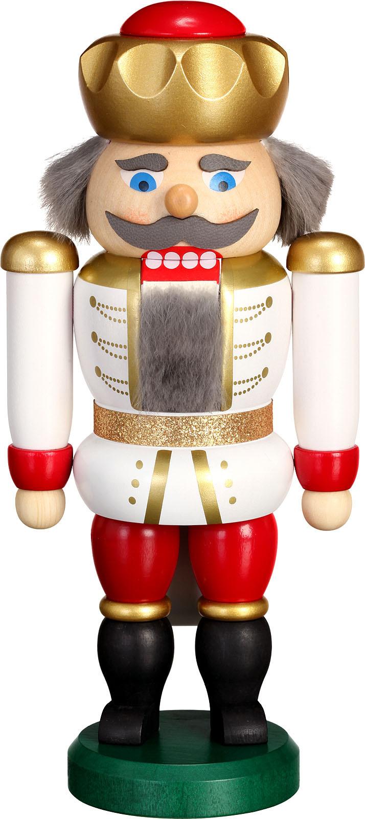 nutcracker king, white-red