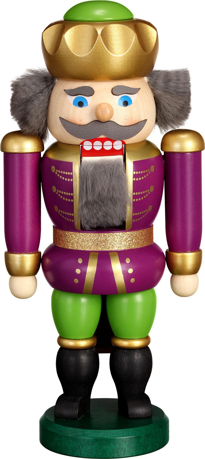 nutcracker king, purple-green