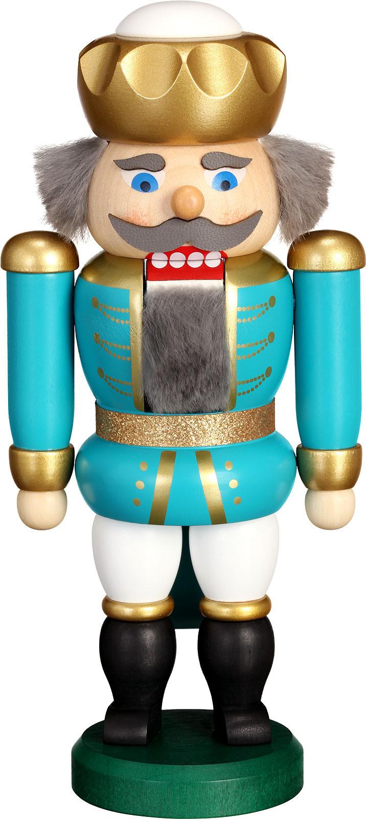 nutcracker king, turquoise-white