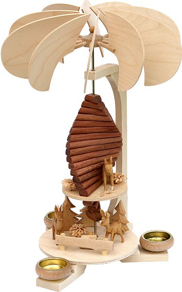 Holzkunst Müller Pyramidenspirale, klein, mit Zeder