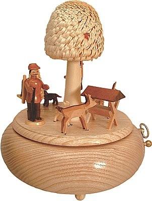 Seiffener Handwerksschau Spieldose Wald- Natur