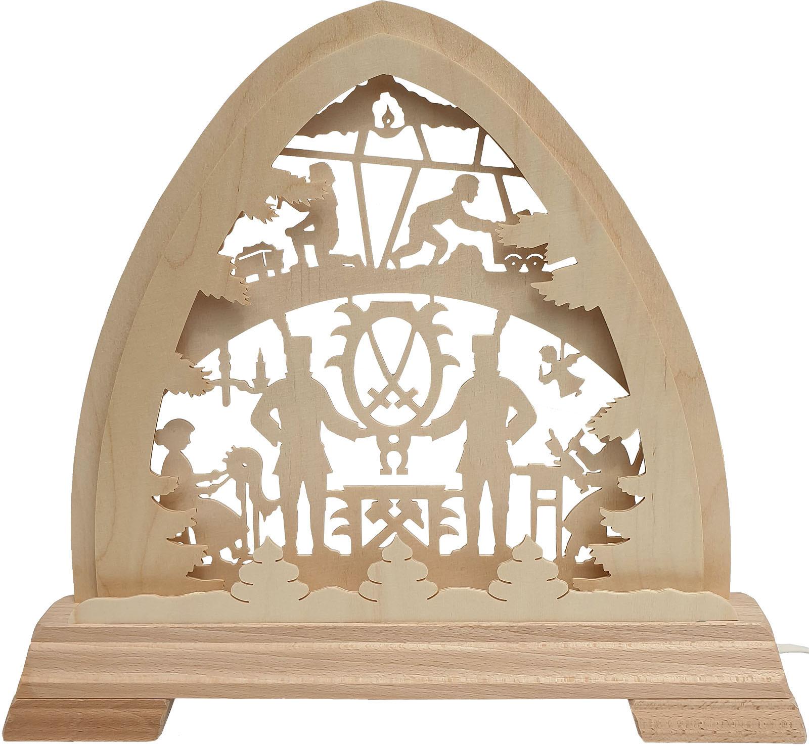 Taulin kleiner gotischer Bogen mit LED Band - Erzgebirge