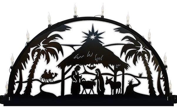 Außenschwibbogen aus Metall, Motiv - Christi Geburt -  3,00 x 1,50 m