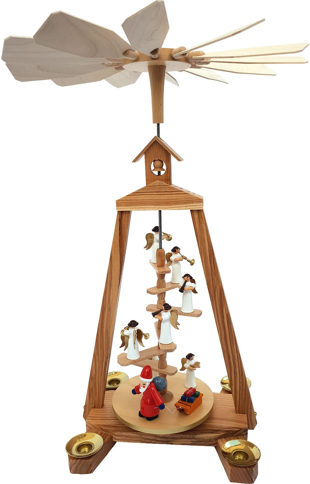 Seiffener Handwerksschau Treppenpyramide Weihnachtsmann