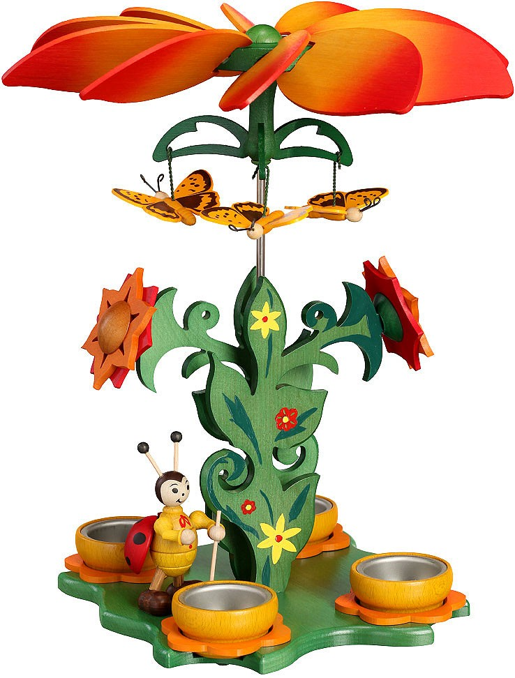 Zeidler Blütenpyramide mit Marienkäfer