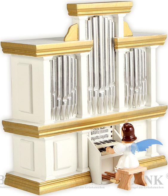 Blank Kurzrockengel an der Orgel, farbig