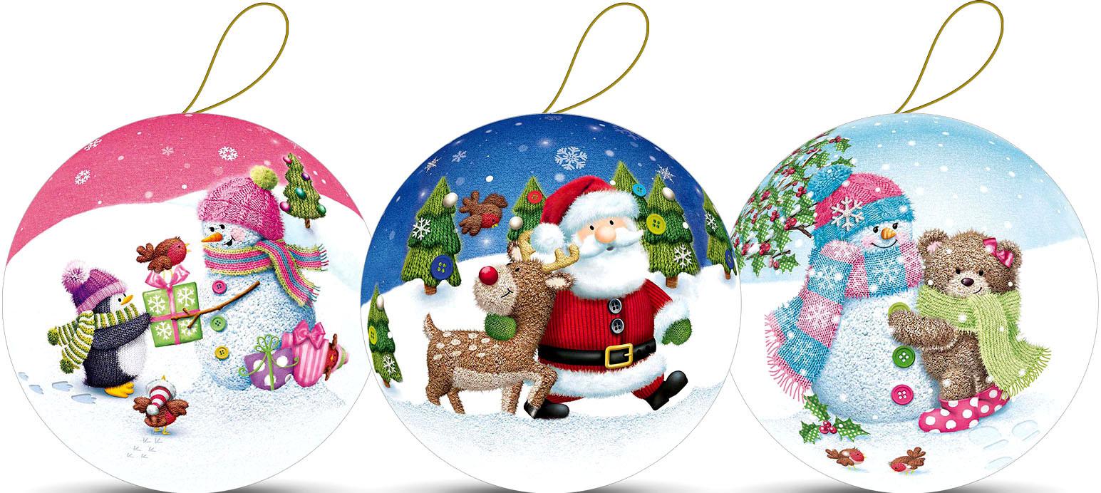 Weihnachtskugeln - Winterwald, 10 cm (3 Stück)