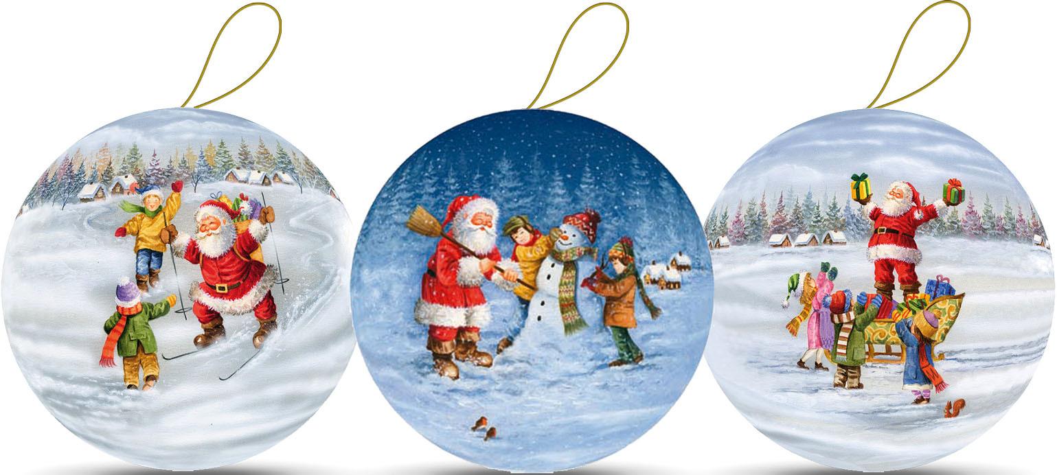 Weihnachtskugeln - Weihnachtsspaß, 10 cm (3 Stück)
