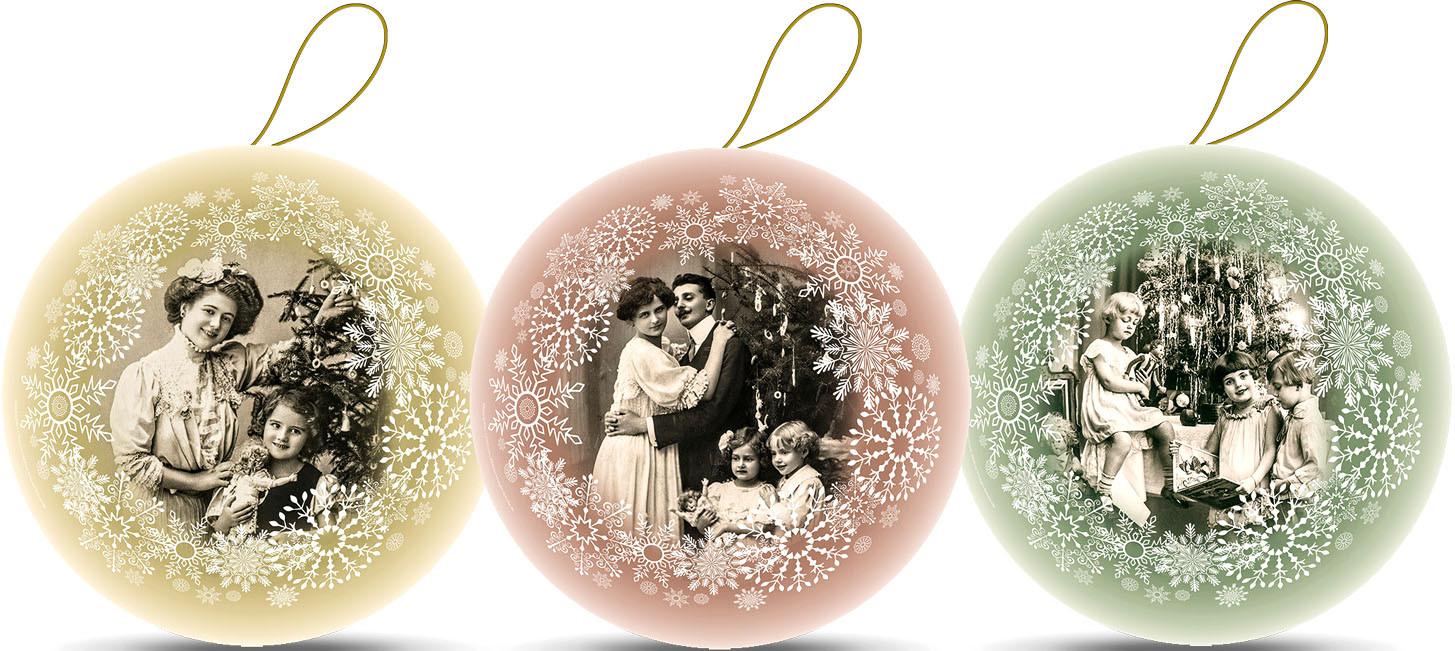 Weihnachtskugeln - Es war einmal, 10 cm (3 Stück)