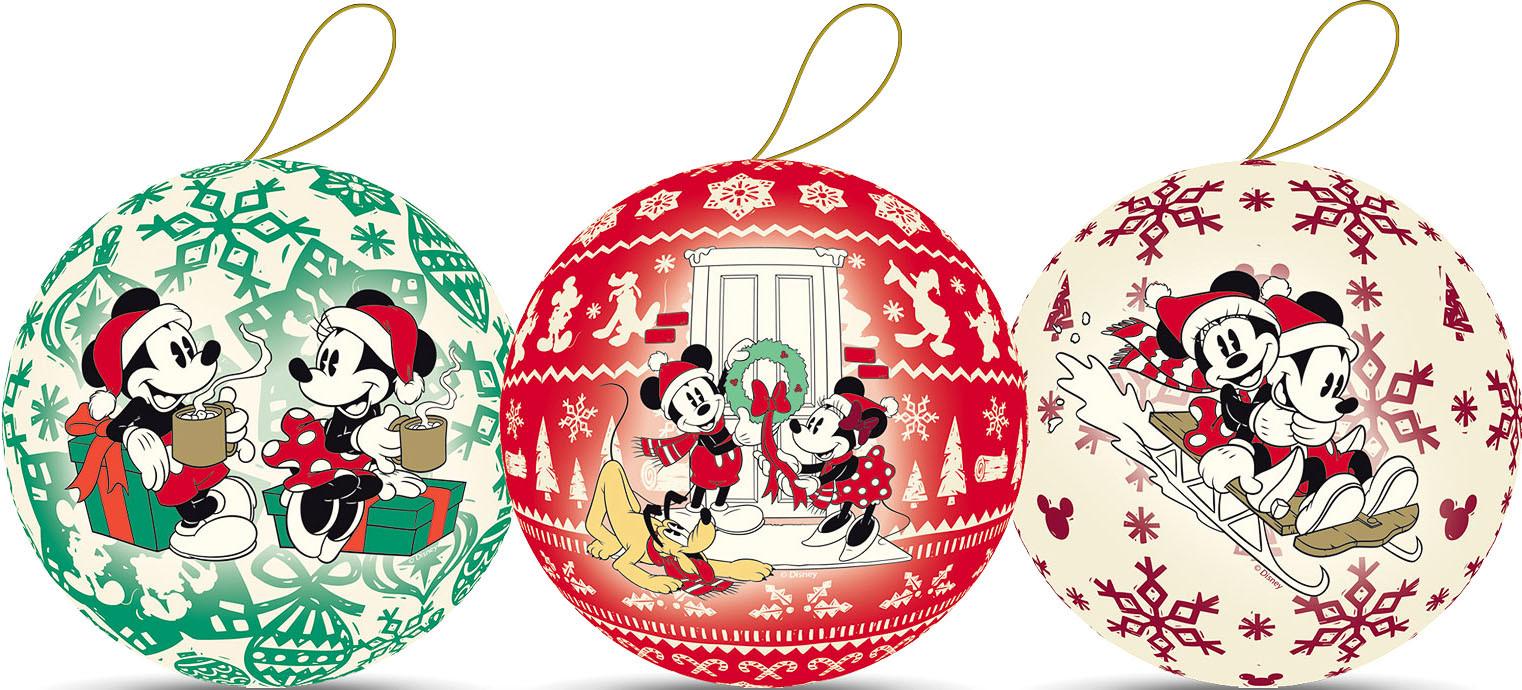 Weihnachtskugeln - Mickey´s Weihnachten, 10 cm (3 Stück)