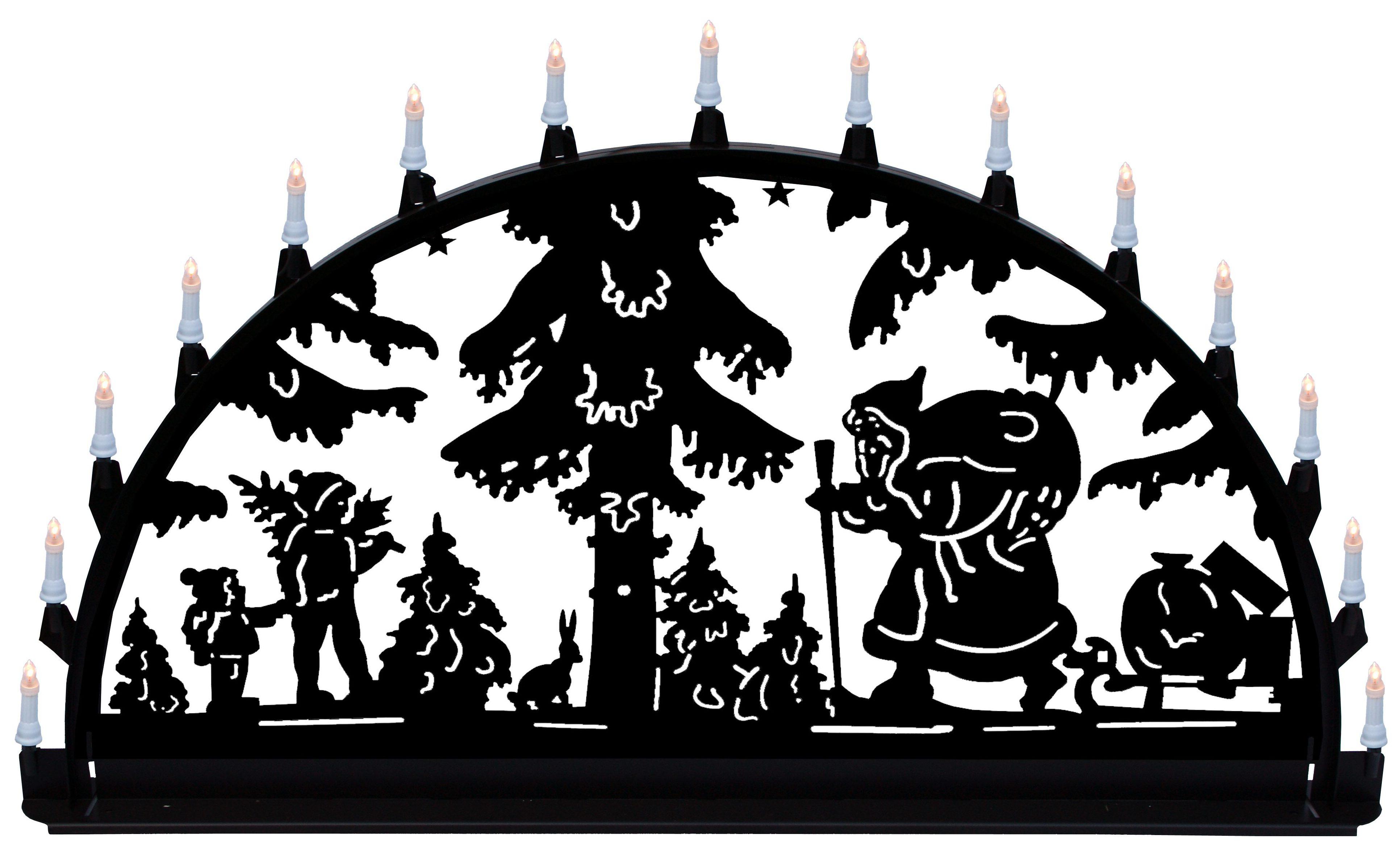 Außenschwibbogen aus Metall, Motiv - Santa Claus - 1,50 x 0,75 m
