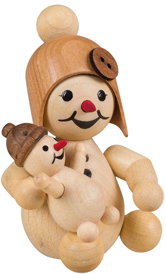 Drechslerei Volkmar Wagner Schneemädchen mit Puppe