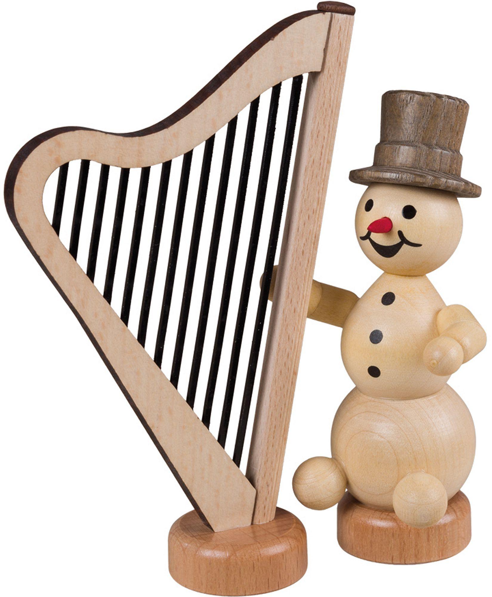 Drechslerei Volkmar Wagner Schneemannmusikant - Harfe