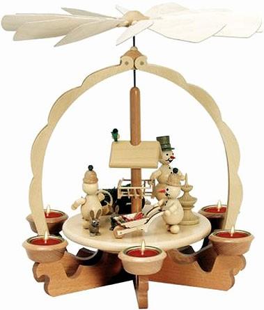 Drechslerei Volkmar Wagner Teelichtpyramide An der Futterraufe