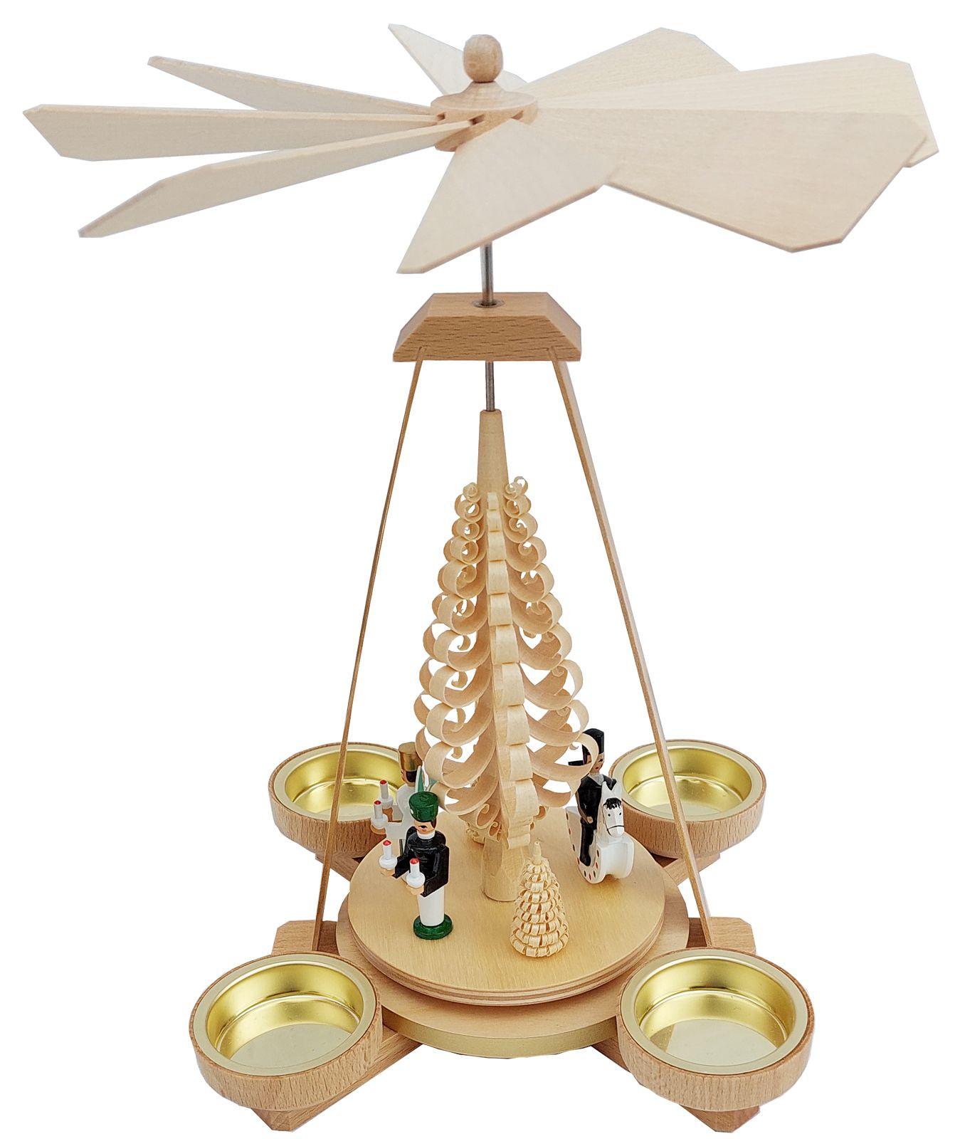 Seiffener Handwerksschau Teelichtpyramide Erzgebirge