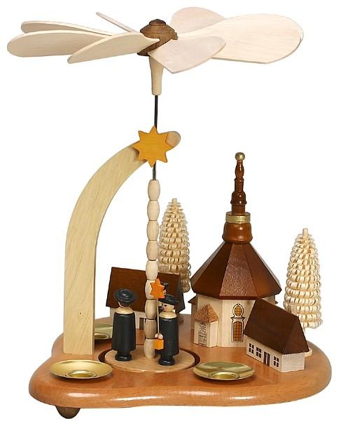 Zeidler Tischpyramide, Seiffner Dorf mit Kurrende
