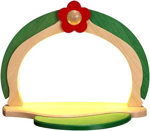 LED illuminated display, naturally/green