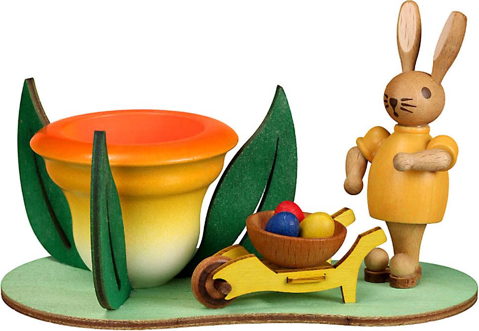 Zeidler Sockel - Eierbecher mit Hase und Schubkarre