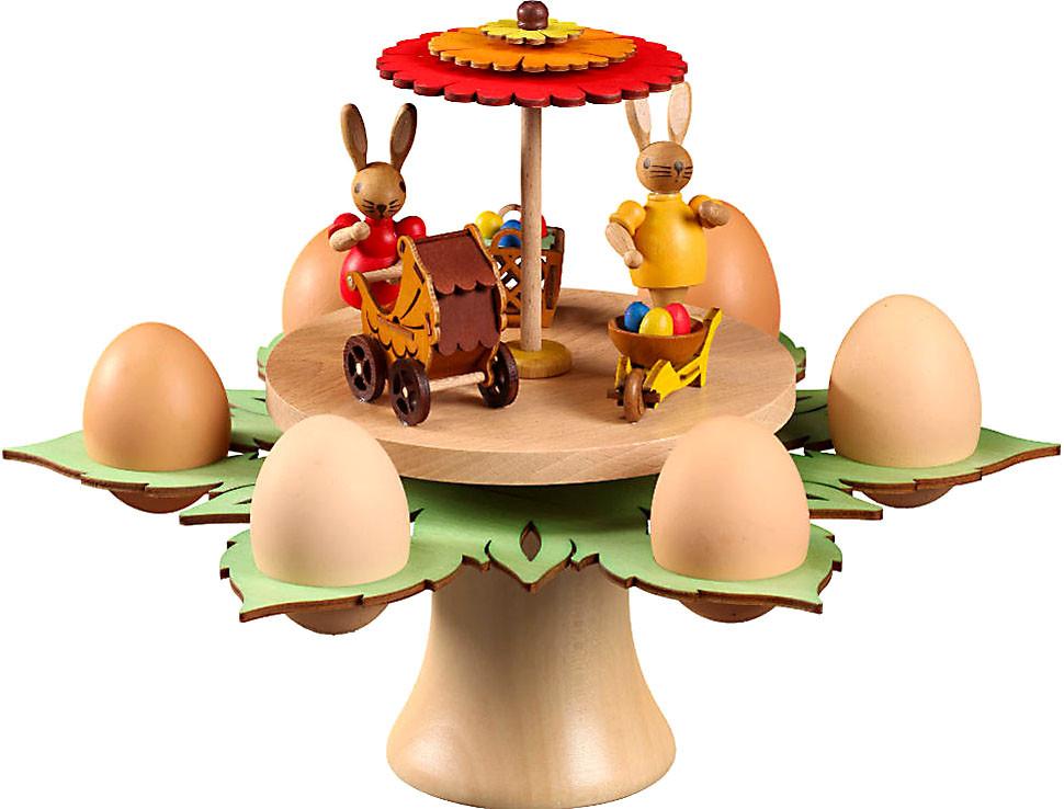 Zeidler Eierhalter - Hasenfamilie unterm Sonnenschirm