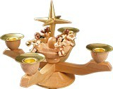 Small candle holder advent natural