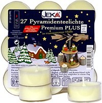 27 pyramid tealights premium plus