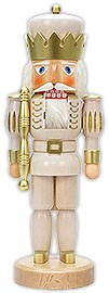 Nutcracker king white varnished