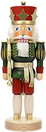 Nutcracker king green varnished