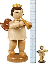 Big angel with trumpet, nature - 8.66 inches - with-crown