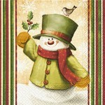 table napkins, hello snowman