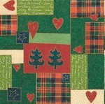 table napkins, patchwork for Xmas