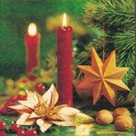 table napkins, Advent evening