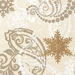 table napkins, winter paisley cream