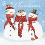table napkins, snowman family