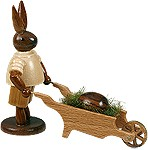 bunny with pushcart and easteregg /natural