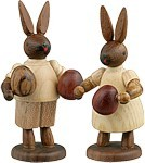 Rabbit couple with easter eggs Natural