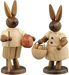 Rabbit couple with Migrant stock and egg basket Natural
